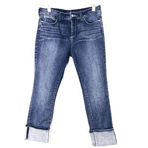 NYDJ Woman's Ankle Cuffed Blue Jeans Size 12